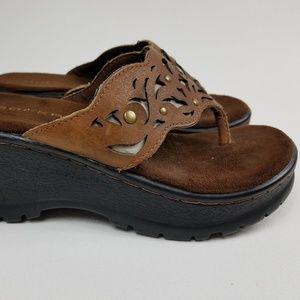 Roper Flip Flop Sandals Size 7 Heel Platform